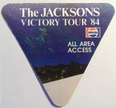 Michael Jackson 2 Vintage Backstage Passes Victory Tour 84 Buffalo Pepsi Dangerous Local Crew Safely Stored For Over 28 Years and in NM Condition This Will be a great Gift for any Fan Shipping will be within 2 days of your payment All Sales. The Jacksons, Pepsi, Michael Jackson, Backstage, Victorious, Buffalo, Great Gifts, Tours, Day