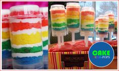 CAKE PUSH POPS!  So cute!!!  You can do them in any way you want to go with your theme!!!  <3 <3 <3