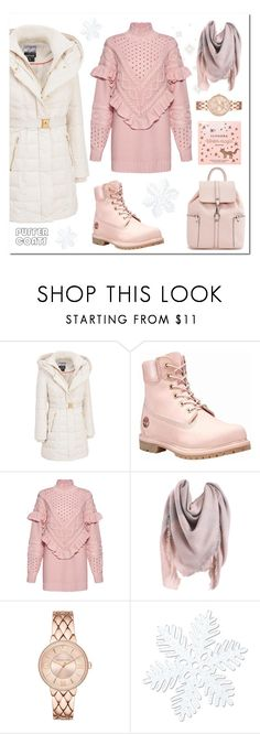"""""""Puff momma"""" by stylewithasideof on Polyvore featuring Kensie, Timberland, Mother of Pearl and Sephora Collection"""