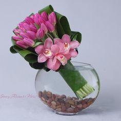 Sonny Alexander Flowers, Beautiful floral arrangement, flowers, orchid, cymbidium and tulip design