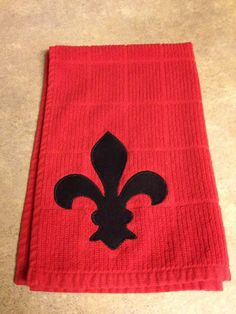 Fleur de lis appliqued Kitchen Towel by MeMarieBoutique on Etsy, $8.00