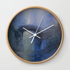 Under the bridge Wall Clock by taylorbernart Wall Clocks, Natural Wood, Cool Designs, Wall Decor, Hands, Artists, Times, Traditional, Crystals