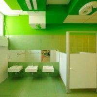 Colorful Refurbishment Kindergarten Bathrooms in Poland