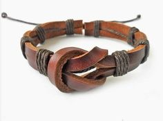 jewelry bangle leather bracelet ropes bracelet women bracelet men bracelet woven bracelet with leather and cotton Ropes wrist SH-0660. $3.00, via Etsy.