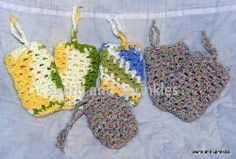 Free Crochet Pattern: 60 Minute Soap Saver. Also A Link To: 60 Minute Patterns: 28 Quick Crochet Designs Read more at http://www.allfreecrochet.com/Crochet-Accessories/60-Minute-Patterns-12-Quick-Crochet-Designs#puZXBCeUBwdh1J53.99