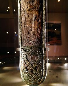 Not technically Viking, but it's close enough to use as a reference point - Valsgärde sword scabbard chape. Viking Metal, Viking Sword, Viking Art, Ancient Vikings, Norse Vikings, Vikings Live, Viking Reenactment, Germanic Tribes, Carolingian