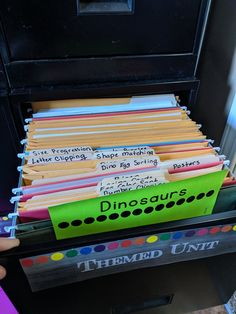 Organizing your filing cabinet to make the most of your space! Filing Cabinet Organization, Future Classroom, Classroom Ideas, Shape Matching, Filing System, Teacher Hacks, Let Them Talk, I School, Stress Free