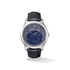 Van Cleef & Arpels - Midnight in Paris Poetic Complication™ shows the exact position of the stars in Paris... So lovely!!!