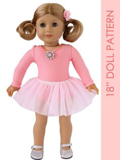 Doll leotard pattern American girl doll by MyChildhoodTreasures