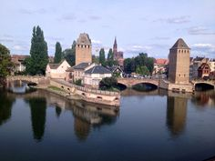The Petite France area of Strasbourg, where the oldest buildings in the city are located. Photo by SU Strasbourg student Tina Kassangana. France Area, Old Building, Strasbourg, France Travel, Study Abroad, Tower Bridge, Buildings, Old Things, Student