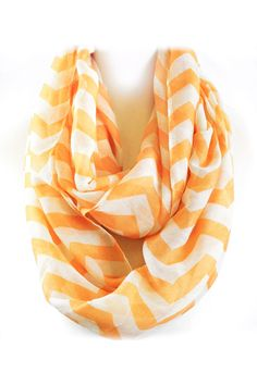 Chevron Infinity Scarf looks great on a Crisp White Shirt