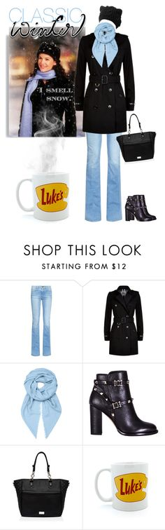 """Classic Winter Looks: Lorelai Gilmore"" by mk-style ❤ liked on Polyvore featuring Frame Denim, Burberry, Loewe, Valentino and Forever New"