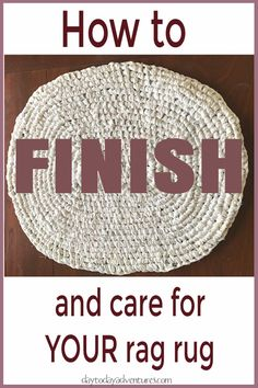How to finish a rag rug and how to care for it - DaytoDayAdventure. Best Picture For small rugs bo Diy Carpet, Rugs On Carpet, Beige Carpet, Carpet Ideas, Hall Carpet, Rag Rug Diy, Diy Rugs, Toothbrush Rug, Homemade Rugs