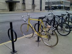 awesome bicycle downtown South Bend...some cool things can after all be seen in South Bend