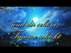 Kleiner gute Nacht Gruß für dich - Good night greeting for you - YouTube