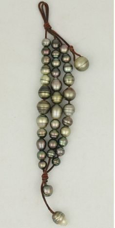 x x x ~ `Mignot St Barts Tahitian Black Pearls'