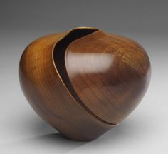 Nathan Hart - Cheyenne - myrtle-it would be beautiful in porcelain. Wood Turning Lathe, Wood Turning Projects, Wood Projects, Wood Vase, Wood Bowls, Native American Pottery, Got Wood, Wood Creations, Wooden Art