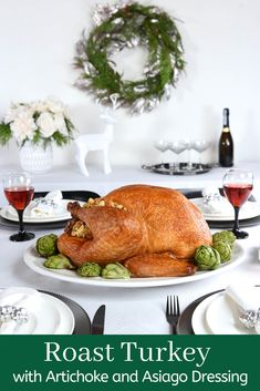 Take your holiday dinner to tasty new heights with our Roast Turkey with Artichoke and Asiago Dressing! Holiday Recipes, Great Recipes, Turkey Prep, Whole Turkey Recipes, Stuffing Ingredients, Turkey Broth, Roasted Turkey, Holiday Dinner, Artichoke