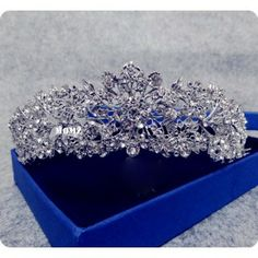 New Arrival Fine Mink Bridal Wedding Crystal Rhinestone Silver Plated Prom Tiaras Canival Crowns