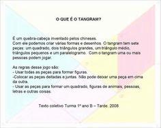 Atividades com o Tangram! - ESPAÇO EDUCAR