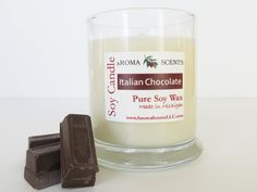 Chocolate Candle - Soy Candle - Candle gifts - Handmade candles - Holiday candles - 4 inches tall - Fudge candle - Container candles