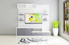 Buy Vanadzor TV Unit with Laminate Finish online in Bangalore. Shop now for modern & contemporary Living designs online. COD & EMI available. Tv Unit Design, Wall Unit Designs, Bedroom Wall Designs, Tv Wall Design, Living Room Designs, Tv Design, Storage Design, Showcase Design, Bedroom Ideas