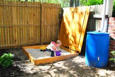 We will have to make a sandbox for our little girl, it was one of my favorite things as a kid.  This is a great idea from Young House Love.