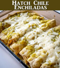 This is a wicked easy recipe for a savory batch of Hatch Green Chile Enchiladas.   Be sure to roast those chiles as that is the key!  mexicanplease.com Easy Pasta Recipes, Easy Meals, Cooking Recipes, Mexican Cooking, Mexican Food Recipes, Ethnic Recipes, Enchiladas, Chile, Wicked