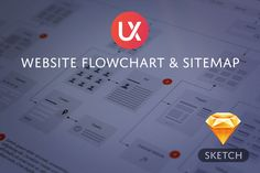 Check out Website Flowchart & Sitemap - Sketch by UX Kits on Creative Market
