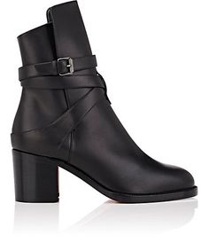 Dries Van Noten Cap-Toe Stamped Leather Ankle Boots