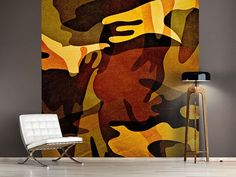 Foto #Tapete Military Retro, Painting, Art, Photos, Self Adhesive Wallpaper, Photo Wallpaper, Wall Papers, Art Background, Painting Art