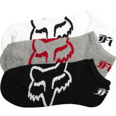 Fox Racing Core No Show Mens Ankle Socks Single Pairs of Black White or Gray #FoxRacing #Casual #FoxHead