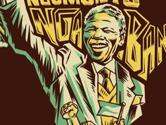 Madiba artwork designed by R! Connect with them on Dribbble; Xhosa, Nelson Mandela, Artwork Design, South Africa, Culture, Graphic Design, Pretty, Fictional Characters, Fantasy Characters
