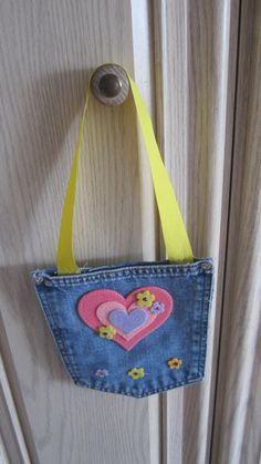 Blue Jean Denim Purse by twocraftingmoms on Etsy, $3.00