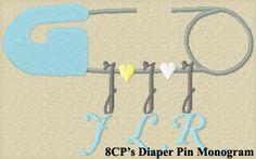 Diaper Pin Monogram
