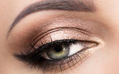 elegant makeup - golden and bronze - #naked2