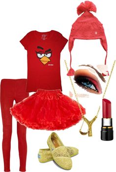 """""""Angry Bird Halloween Costume"""" by mik-marv on Polyvore"""