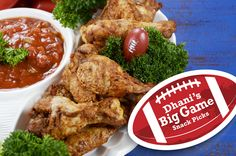 The time-honored Big Game favorite can be the main course on your table. Even consider making a variety of flavors using Heluva Good! French Onion, Jalapeño Cheddar, or even Bacon Horseradish Dip! Chicken Wings - Sign Up Genius
