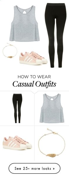 Casual OOTD by lilo201416 on Polyvore featuring Topshop and adidas