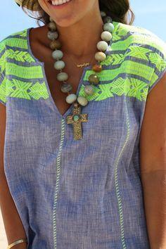 J.Crew embroidered Dolmain tunic - Beach Wear   VeryAllegra