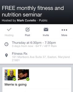 This Thursday come find out how to eat more and lose weight!  530pm