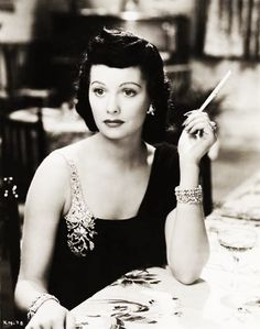 Beautiful jewelry on a brunette Lucille Ball