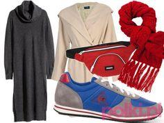 Stylizacja z dzianinową sukienką - #2 #polkipl #stylizacje