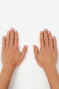 Love Infinity Midi Rings in Gold.