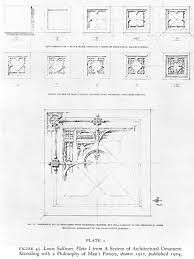 Plate 18 39 untitled 39 from louis sullivan 39 s 39 system of for Sullivan floor plan