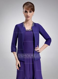 [US$ 49.99] 3/4-Length Sleeve Chiffon Special Occasion Wrap (013012555)