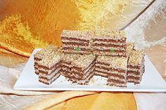 Prajitura cu foi si crema de nuca Romanian Food, Romanian Recipes, Tiramisu, Good Food, Bread, Ethnic Recipes, Desserts, Unt, Cakes