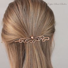 Copper Hair Stick, Metal Hair Clip for Women with Copper Bead, Hair Accessories for Women