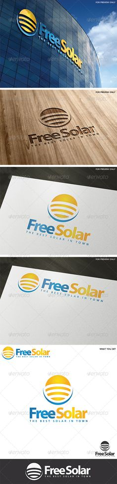 Solar Logo Template v1  #GraphicRiver         A clean stylish solar logo design that can easly fit to many businesses and
