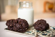 Vegan Double Chocolate Oatmeal Cookies